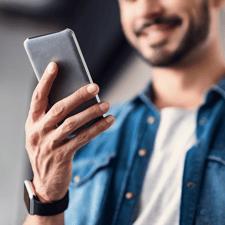 acquéreur smartphone espace client