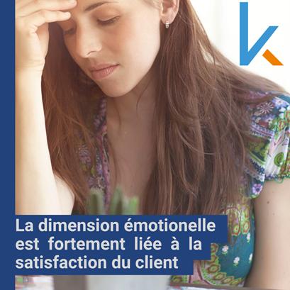 satisfaction du client est liée aux émotions